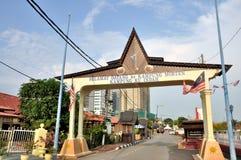 Calle de Melaka Foto de archivo libre de regalías