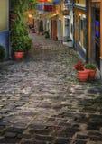 Calle de mercado en Szentendre, Hungría Fotografía de archivo