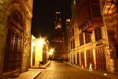 Calle de Moez, en la noche Foto de archivo libre de regalías