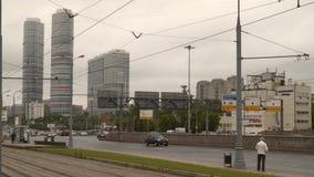 Calle de Moscú Él ` s al día desagradable