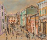 Calle de Moscú Imagen de archivo libre de regalías