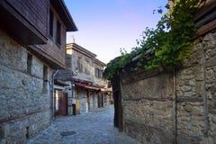 Calle de Nessebar Fotografía de archivo