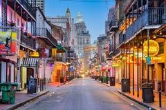 Calle de New Orleans Borbón imágenes de archivo libres de regalías