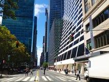 Calle de New York City Fotos de archivo libres de regalías