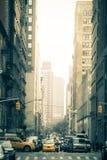 Calle de New York City corregida foto de archivo