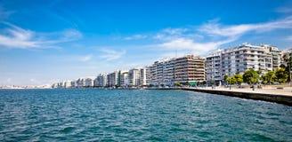 Calle de Nikis en Salónica Grecia Fotos de archivo