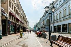 Calle de Nikolskaya de Moscú Fotografía de archivo