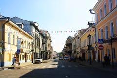 Calle de Nikolskaya en Astrakhan fotografía de archivo