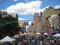 Calle de Nueva York justa Foto de archivo libre de regalías
