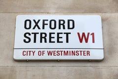 Calle de Oxford Imagen de archivo
