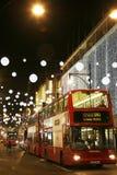 2013, calle de Oxford con la decoración de la Navidad Fotografía de archivo libre de regalías