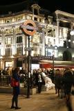 2013, calle de Oxford con la decoración de la Navidad Fotos de archivo