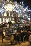 2013, calle de Oxford con la decoración de la Navidad Fotos de archivo libres de regalías