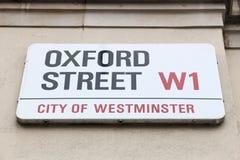 Calle de Oxford, Londres Imagenes de archivo