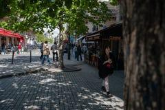 Calle de París Foto de archivo libre de regalías