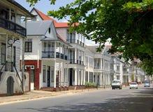 Calle de Paramaribo imágenes de archivo libres de regalías