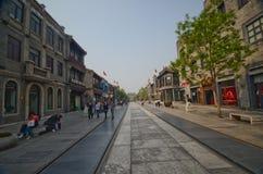 Calle de Pekín Qianmen Imagen de archivo libre de regalías
