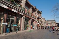 Calle de Pekín Qianmen Imágenes de archivo libres de regalías