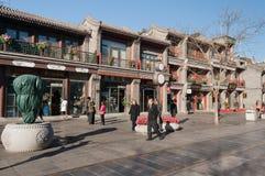 Calle de Pekín Qianmen Fotografía de archivo