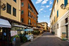 Calle de Peschiera Imágenes de archivo libres de regalías