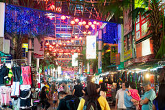 Calle de Petaling, Kuala Lumpur Imagen de archivo