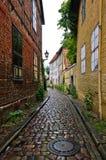 Calle de piedra del adoquín Fotografía de archivo libre de regalías
