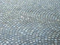 Calle de piedra del adoquín Fotos de archivo libres de regalías