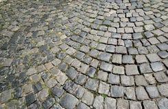 Calle de piedra del adoquín Fotografía de archivo