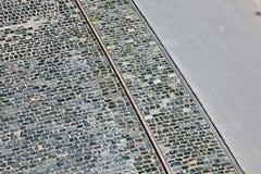 Calle de piedra del adoquín Imagen de archivo libre de regalías
