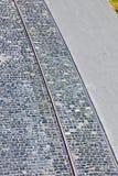 Calle de piedra del adoquín Foto de archivo