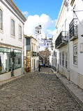 Calle de piedra del pavimento Foto de archivo