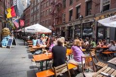 Calle de piedra New York City Fotos de archivo libres de regalías