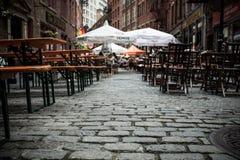 Calle de piedra New York City Imagen de archivo