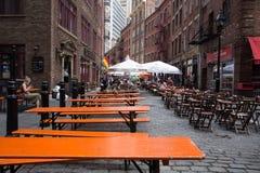 Calle de piedra New York City Imagen de archivo libre de regalías