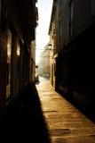 Calle de Pontedeume, un Coruña, España imagen de archivo libre de regalías