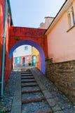 Calle de Portmeirion, País de Gales del norte Imagen de archivo libre de regalías