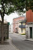 Calle de Quebec City Foto de archivo