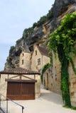 Calle de Roque-Gageac del La Fotos de archivo