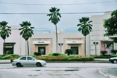 Calle de Saipán en la estación de lluvias fotos de archivo