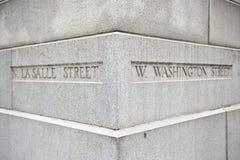 Calle de Salle de Washington y del La Imagen de archivo libre de regalías