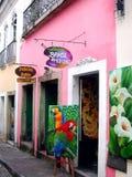 Calle de Salvador da Bahia - el Brasil Imagen de archivo libre de regalías