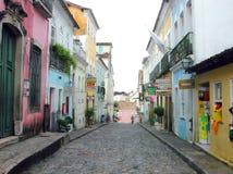 Calle de Salvador da Bahia - el Brasil Fotografía de archivo libre de regalías