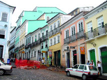 Calle de Salvador da Bahia - el Brasil Fotos de archivo libres de regalías