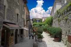 Calle de San Marino Fotografía de archivo libre de regalías