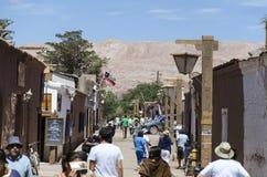 Calle de San Pedro de Atacama Foto de archivo libre de regalías