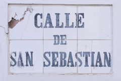 Calle de San Sebastian Stock Photo