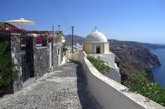 Calle de Santorini Fotografía de archivo libre de regalías