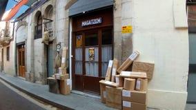 Calle 2017 de Sants Barcelona de las fiestas Sagunt Fotografía de archivo libre de regalías
