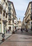 Calle de Shoping de Zaragoza Imagen de archivo libre de regalías