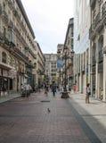 Calle de Shoping de Zaragoza Foto de archivo